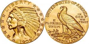 Монета Half eagle