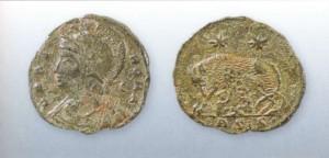 Медный фоллис XII века