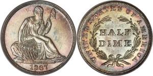 Half Dime 1837 года