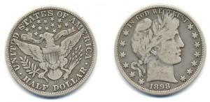 50 центов США выпуска 1898 года