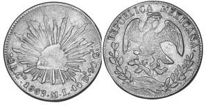 Мексика сентаво 1863 г.